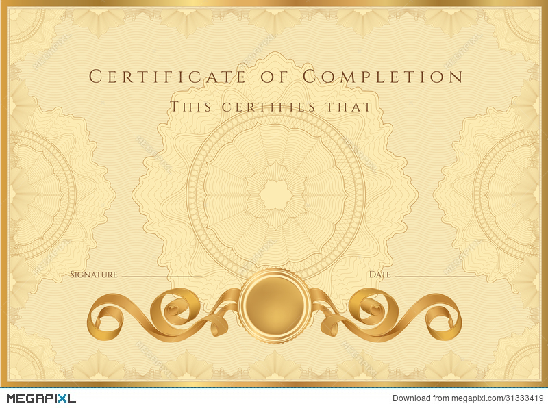 golden certificate diploma background template illustration  golden certificate diploma background template