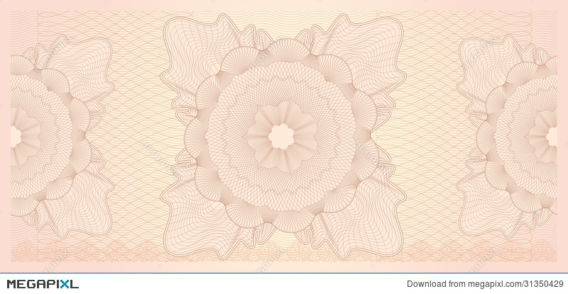 Gift Certificate (Voucher) Template. Pattern  Money Voucher Template