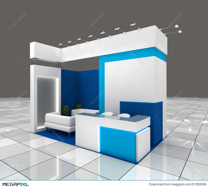 Exhibition Stand Free Vector : Exhibition stand design illustration 31382656 megapixl