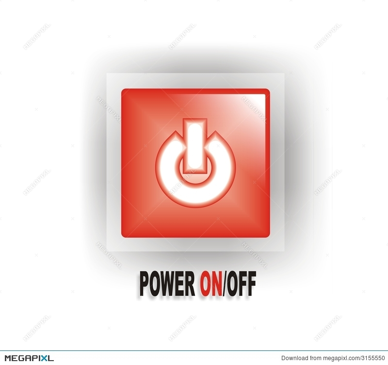 Red Power Onoff Button Illustration 3155550 Megapixl