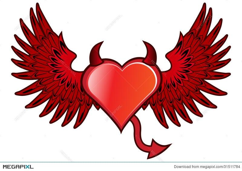 devil heart illustration 31511784 megapixl