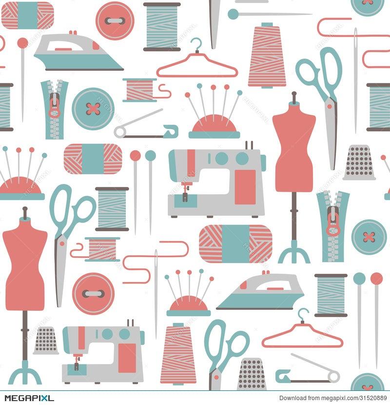 Sewing Pattern Illustration 31520889 - Megapixl