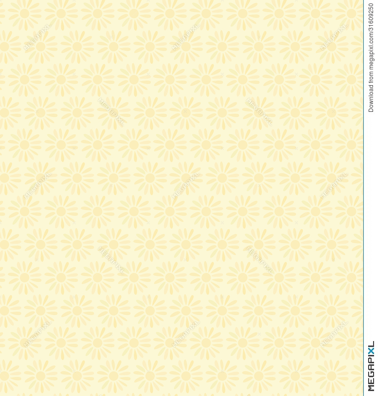 Floral Decorative Seamless Texture Background With Flowers