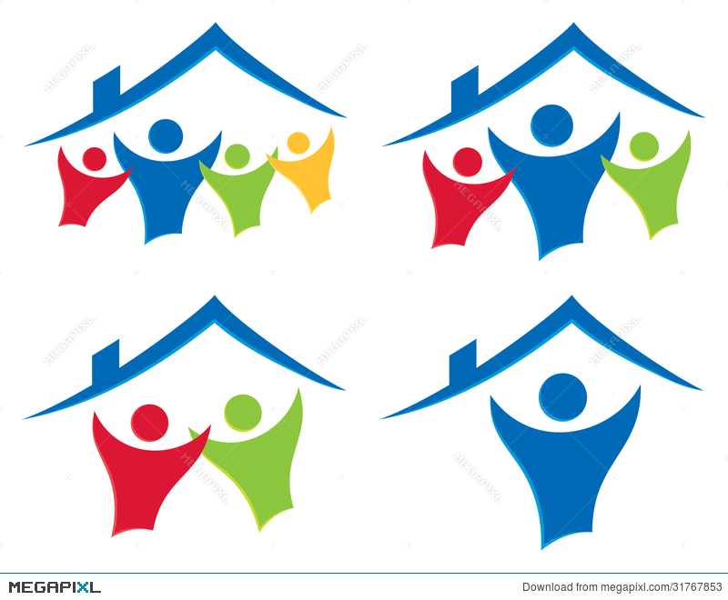 People House Logo Set Illustration 31767853 Megapixl