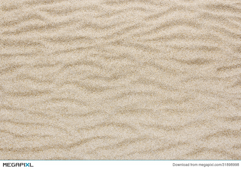 Yellow Sea Beach Sand Wave For Texture And Background