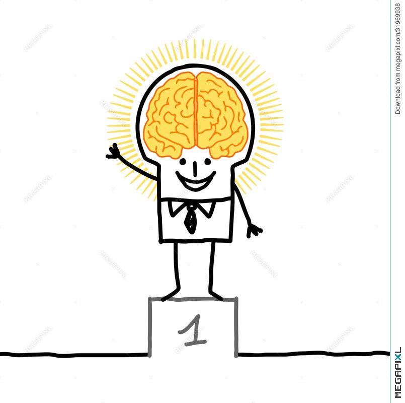 Big brain man excellence illustration 31969938 megapixl big brain man excellence thecheapjerseys Gallery