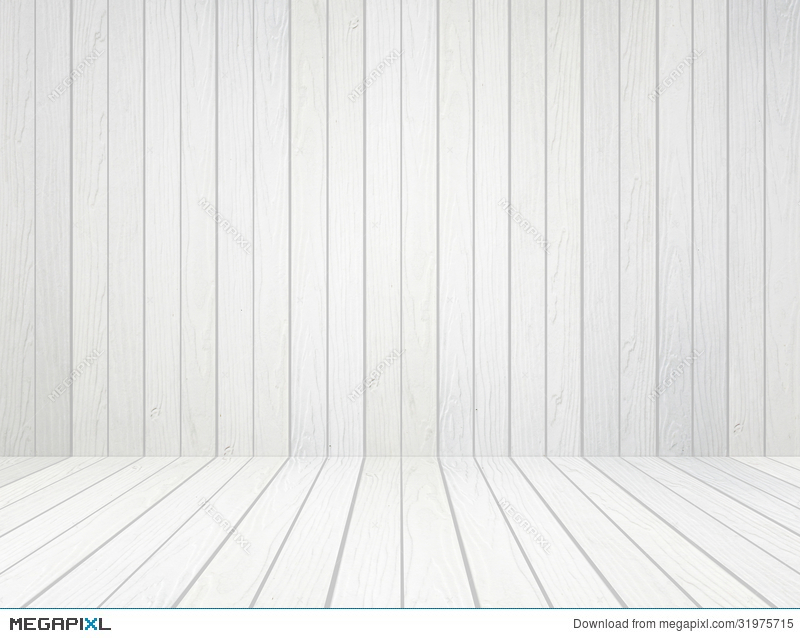 White Wood Wall And Floor Background