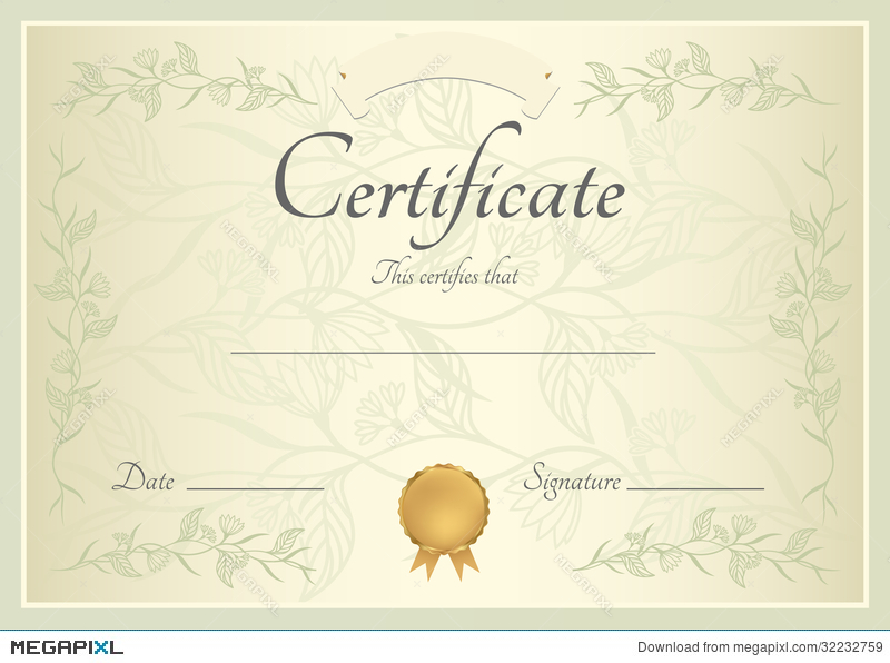 Certificate diploma background template illustration 32232759 certificate diploma background template yelopaper Images