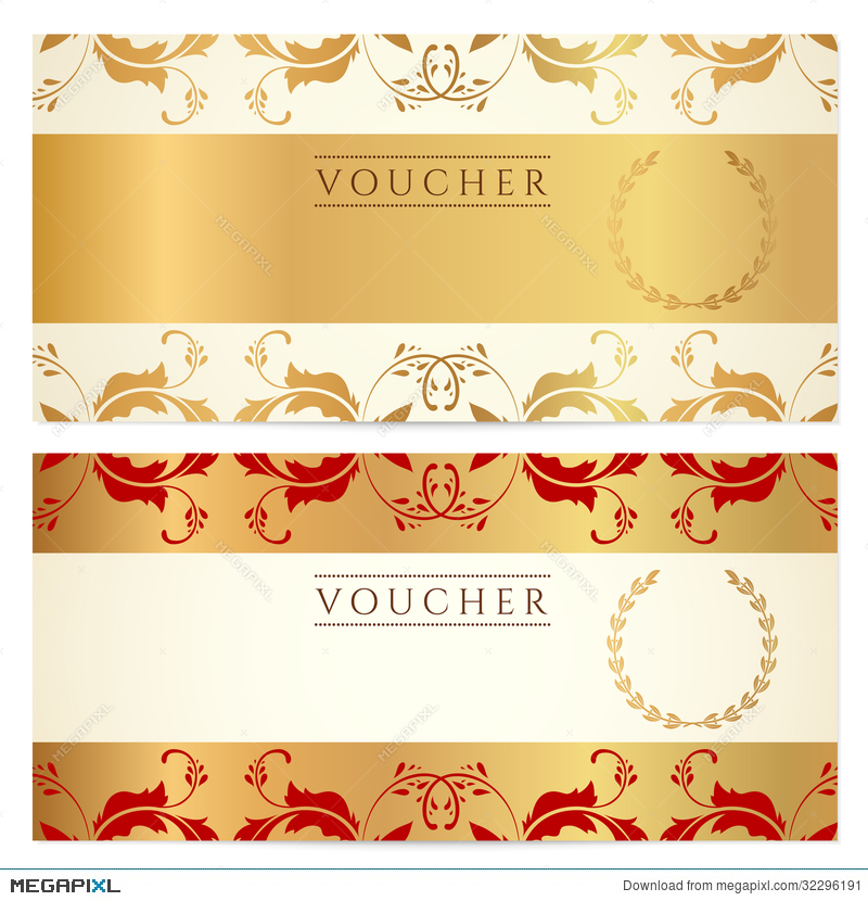 Gift Certificate Voucher Coupon Template Illustration 32296191
