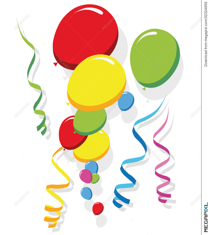balloons and streamers vector illustration 32324959 megapixl