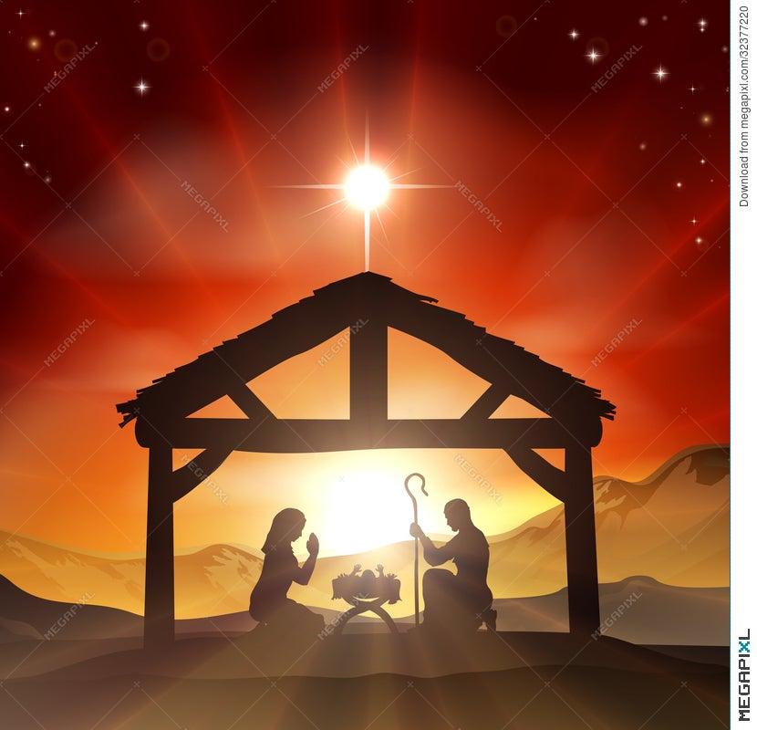nativity christian christmas scene - Christian Christmas Pictures