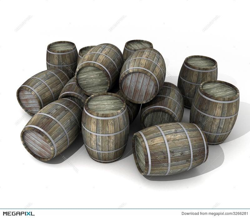 Wine Barrels Illustration 3266281 Megapixl
