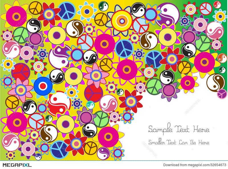 Hippie background illustration 32654673 megapixl hippie background voltagebd Choice Image