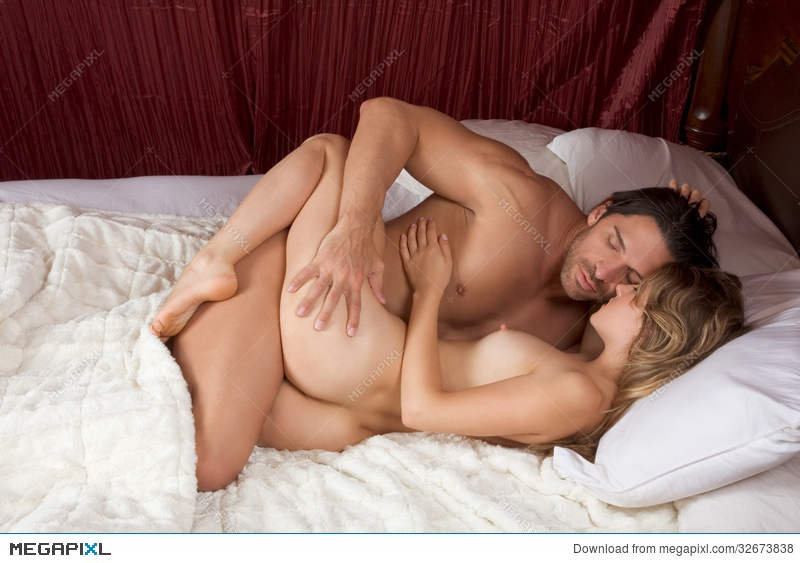 There can Lovers in bed nude kissing phrase, matchless)))