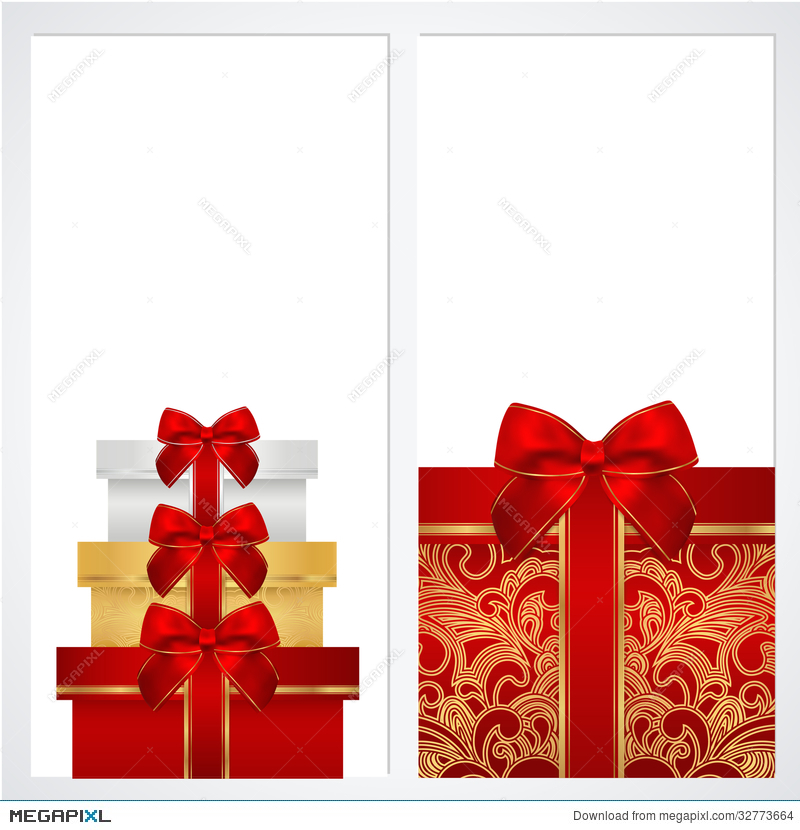 Voucher Gift Certificate Coupon Template Box Illustration