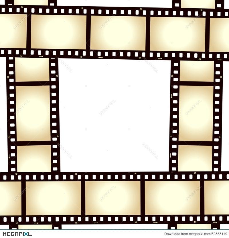 Retro Film Strip Photo Frame Illustration 32868119 - Megapixl