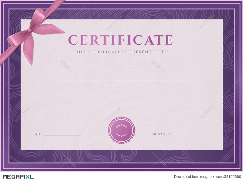 Certificate, Diploma Template. Award Pattern Illustration 33122300 ...