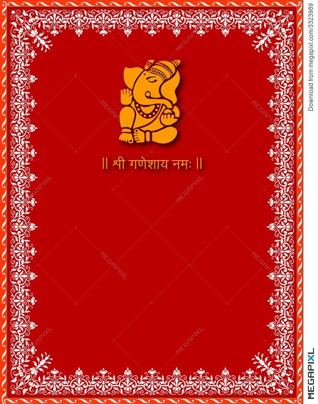 Shree ganesha card template illustration 3323989 megapixl shree ganesha card template stopboris Image collections