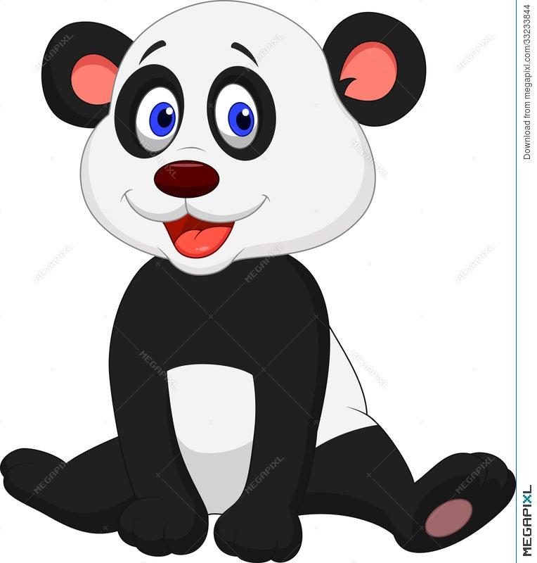Cute Baby Panda Cartoon Illustration 33233844 Megapixl