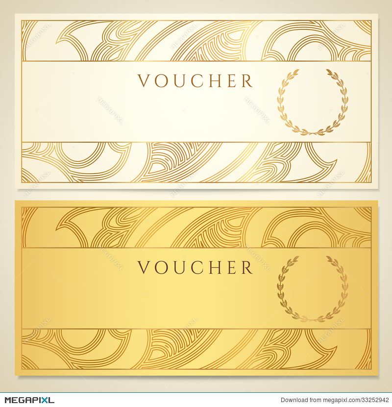 Voucher Gift Certificate Coupon Template Illustration 33252942