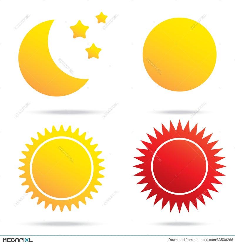 Moon Sun And Star Symbol Illustration 33530266 Megapixl