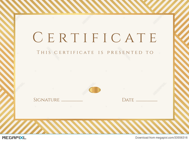 Certificate diploma template gold award pattern illustration certificate diploma template gold award pattern yadclub Gallery
