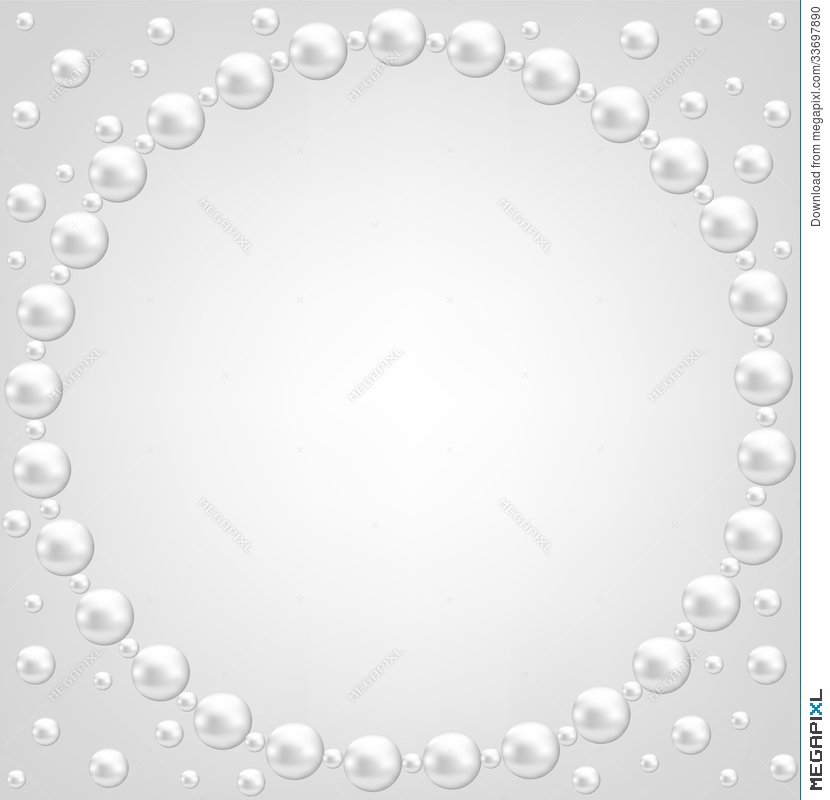 lace and pearl frame illustration 33697890 megapixl