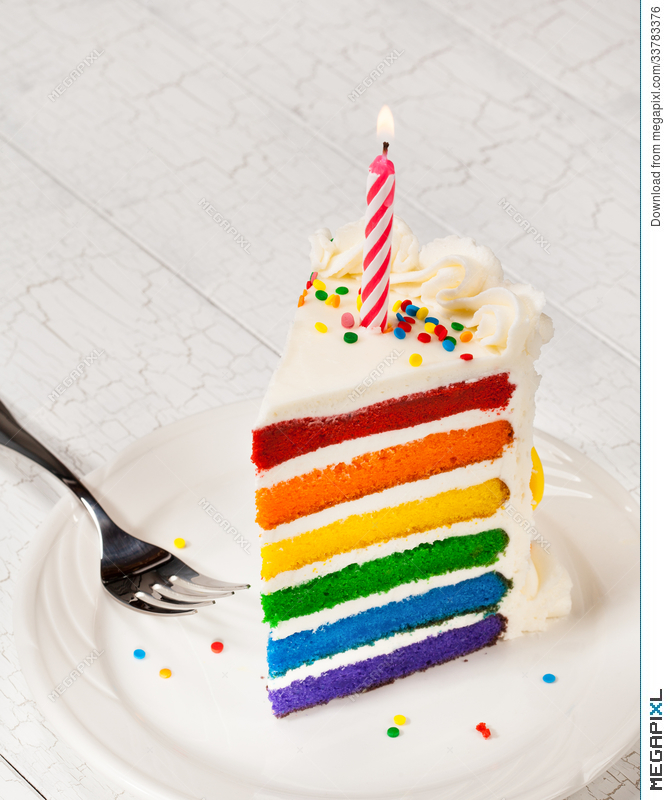 Terrific Slice Of Birthday Cake Stock Photo 33783376 Megapixl Personalised Birthday Cards Paralily Jamesorg