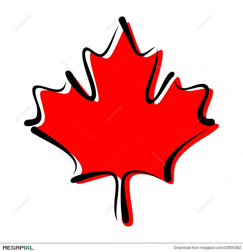 Maple Leaf Symbol Of Canada Illustration 33800062 Megapixl