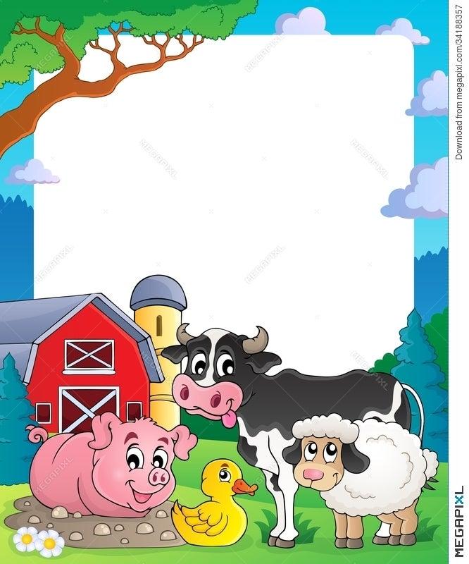 Farm Theme Frame 2 Illustration 34188357 - Megapixl