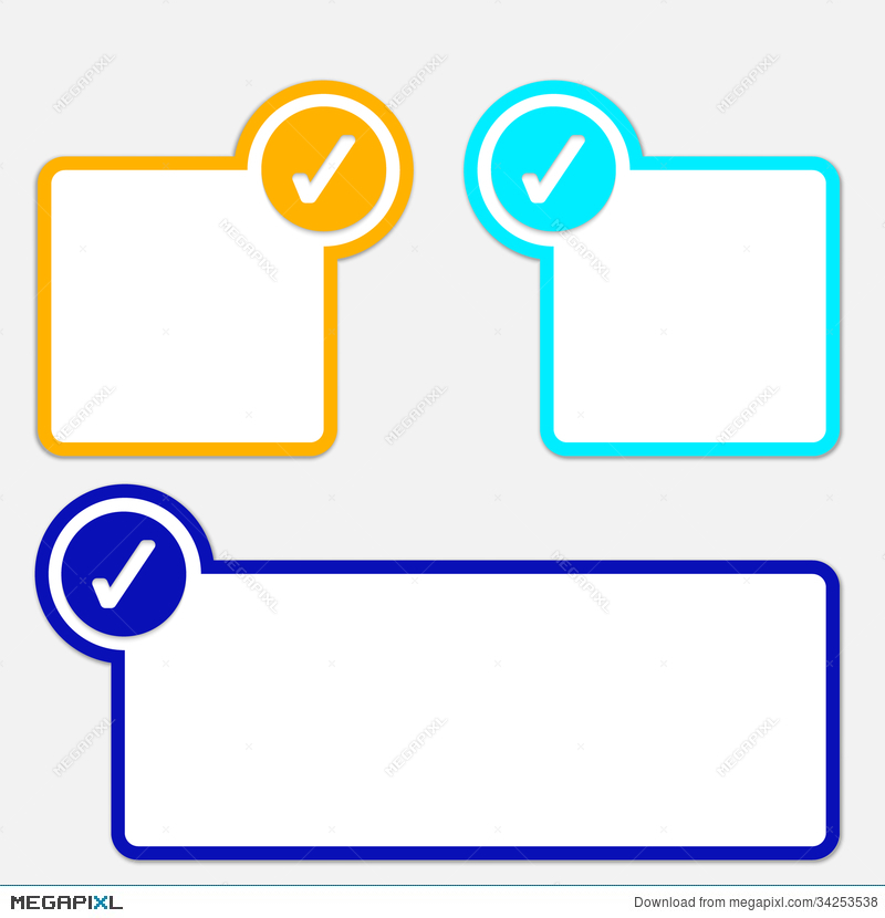 Text Frame With Check Box Illustration 34253538 Megapixl