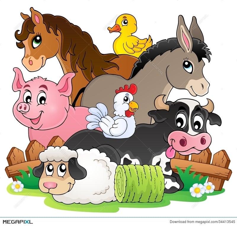 Farm Animals Topic Image 2 Illustration 34413545 Megapixl