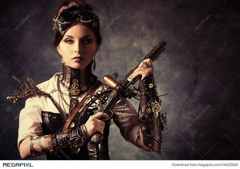 Woman Gun Stock Photo 34423940 - Megapixl