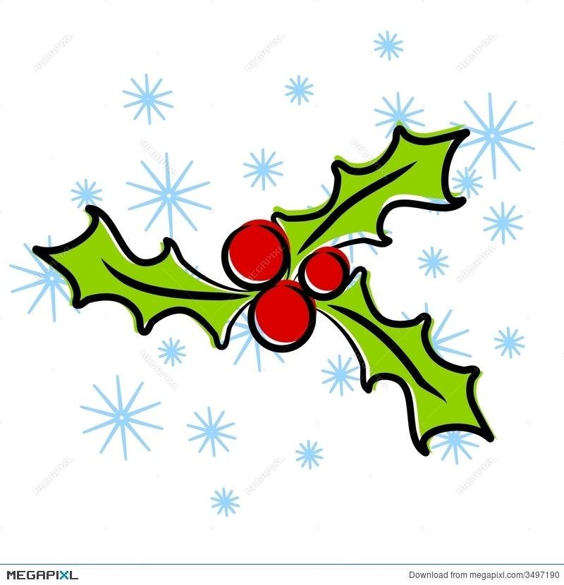 Christmas Holly Clip Art.Christmas Holly Clip Art Illustration 3497190 Megapixl