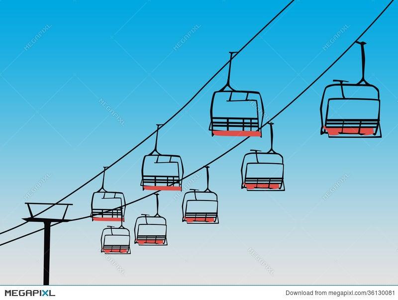 Chairlift Winter Sport Background Illustration 36130081 Megapixl