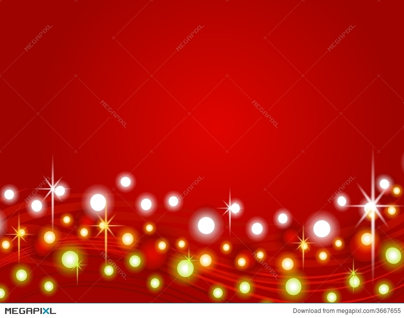 Red Christmas Lights Background 2 Illustration 3667655