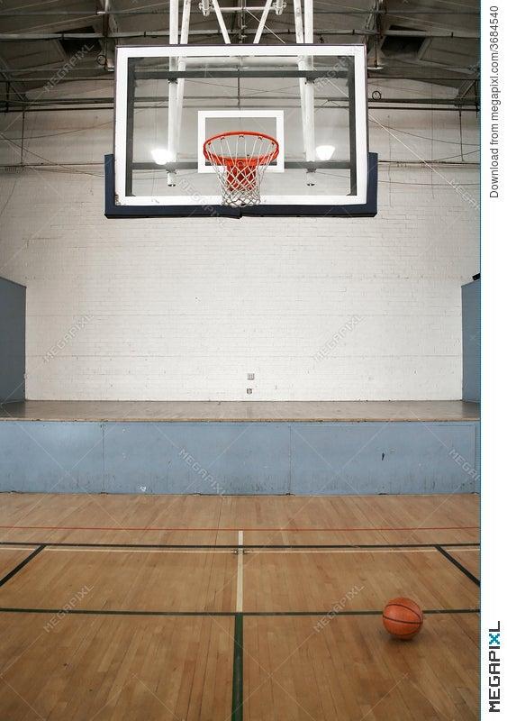 Basketball Court & Ball Stock Photo 3684540 - Megapixl