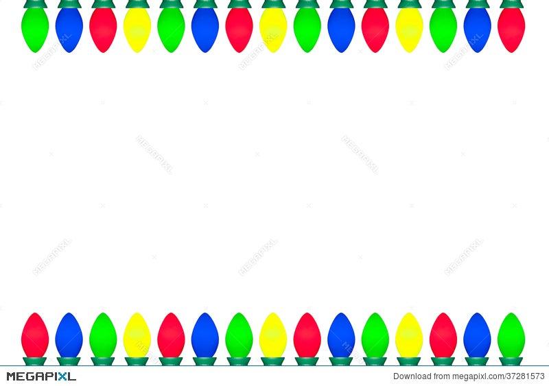 christmas light bulb border illustration 37281573 megapixl