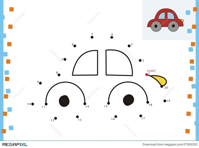 coloring book dot to dot the car illustration 37500323 megapixl