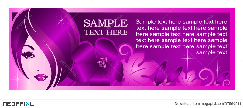 Banner Template For Beauty Salon Or Other Services Illustration 37560811 Megapixl