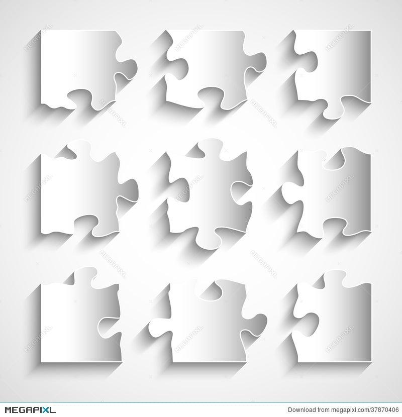 flat design 9 piece puzzle template illustration 37870406 megapixl