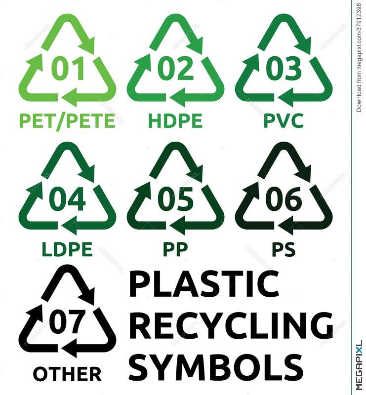 Plastic Recycling Symbols Illustration 37912398 Megapixl