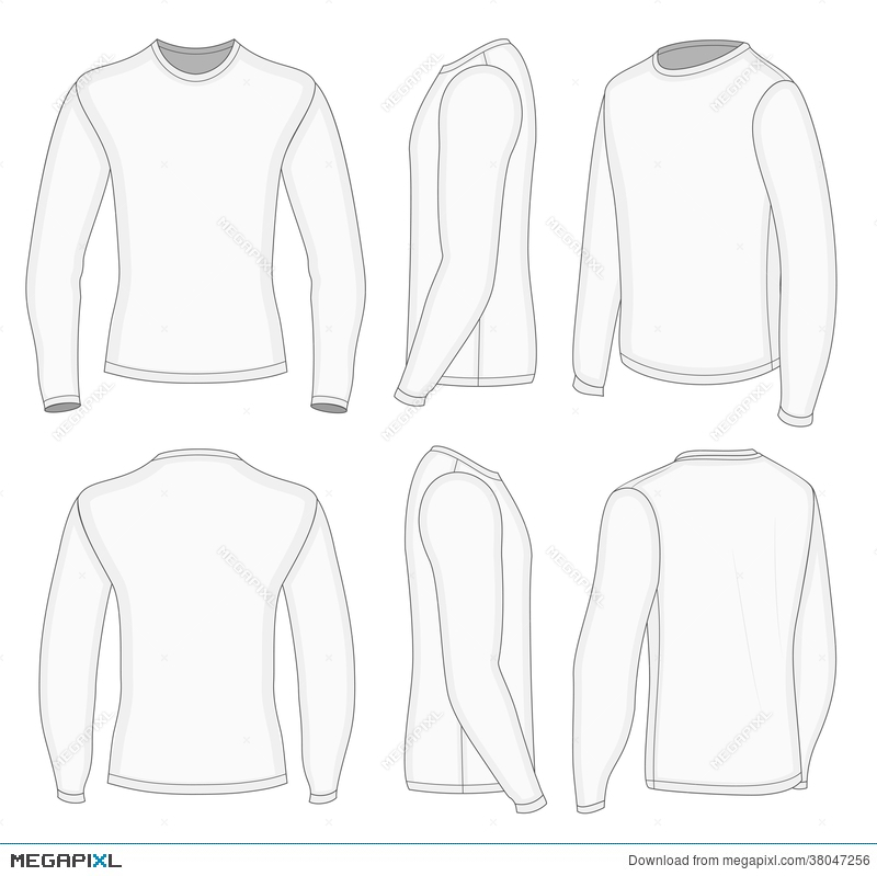 men s white long sleeve t shirt illustration 38047256 megapixl