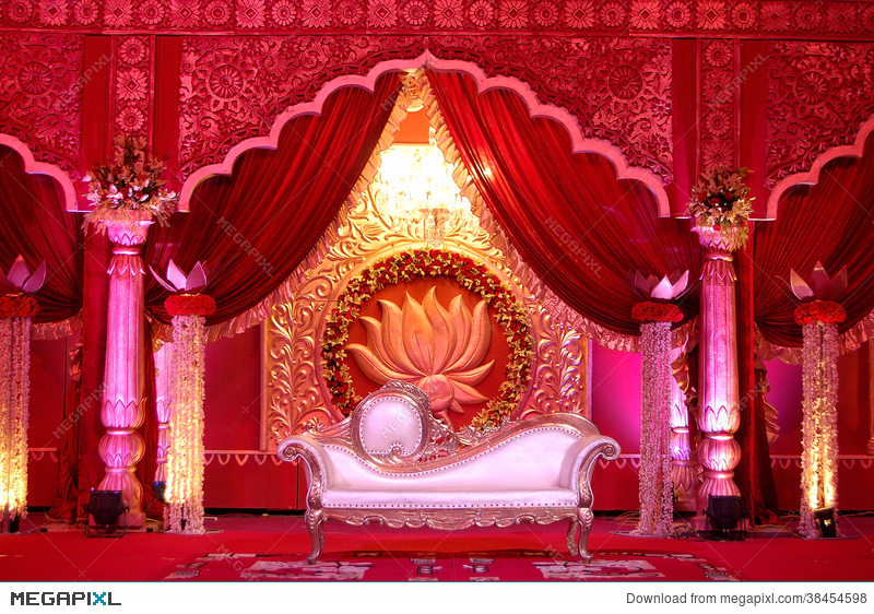Indian wedding stage mandap stock photo 38454598 megapixl indian wedding stage mandap junglespirit Images