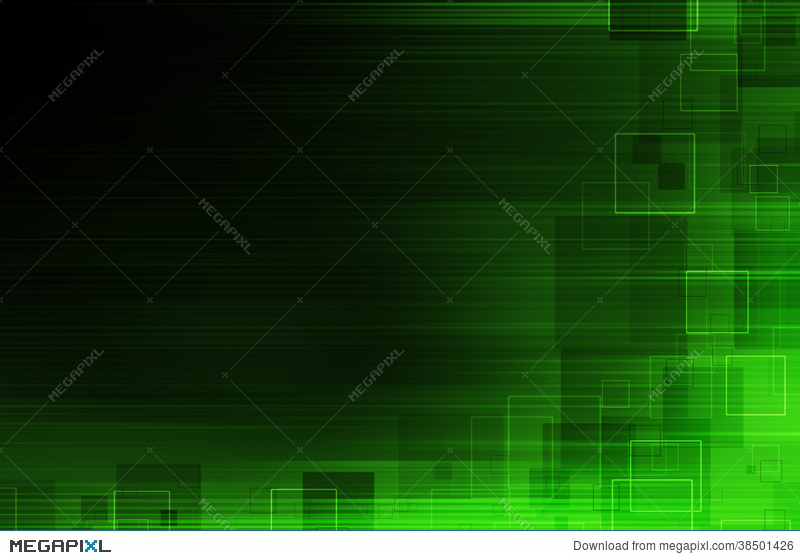 Dark Green Tech Abstract Background Illustration 38501426