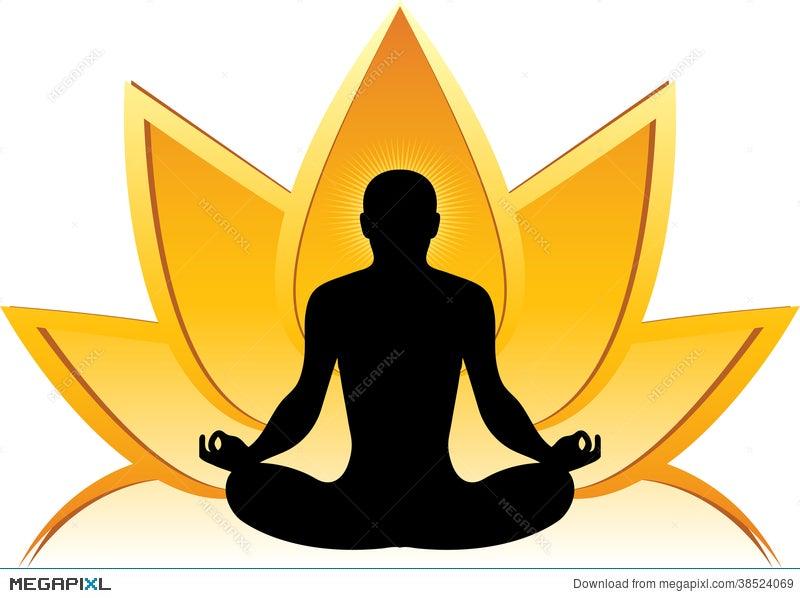 Lotus Yoga Logo Illustration 38524069 Megapixl