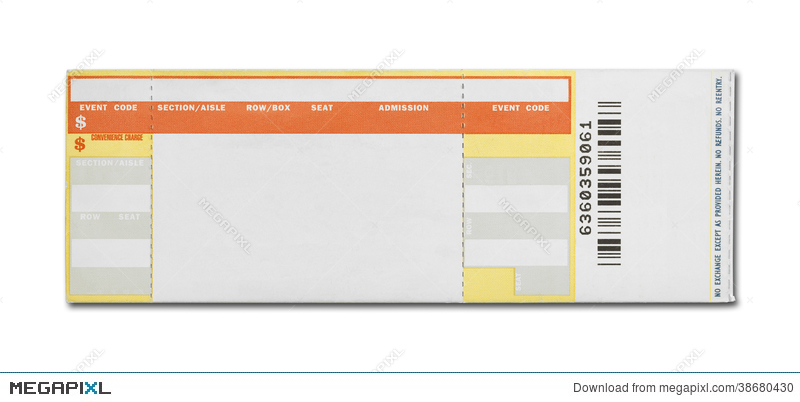 Blank Concert Ticket  Blank Ticket