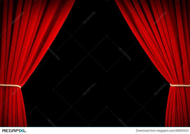 Movie Curtains Illustration 38680523