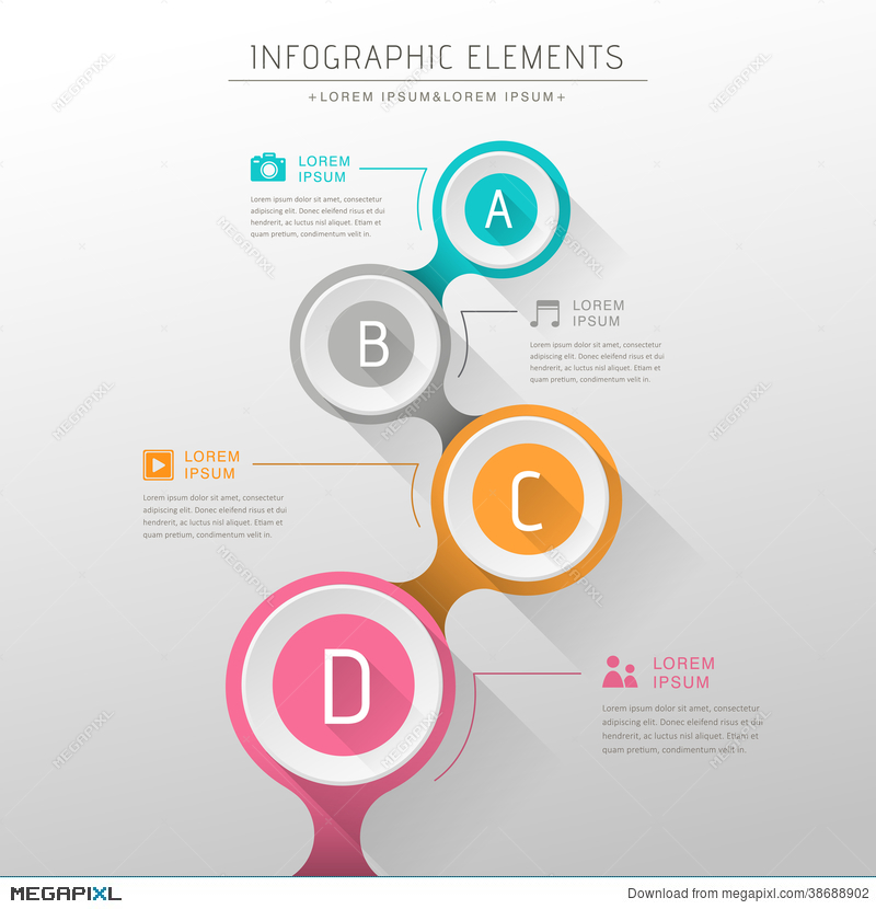 Abstract flow chart infographics illustration 38688902 megapixl abstract flow chart infographics ccuart Images