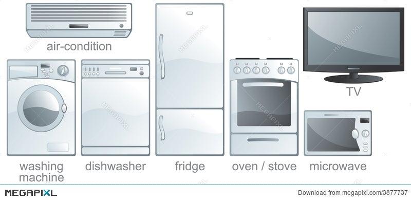 icon set home equipment illustration 3877737 megapixl